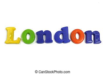 słowo, biały, londyn, tło