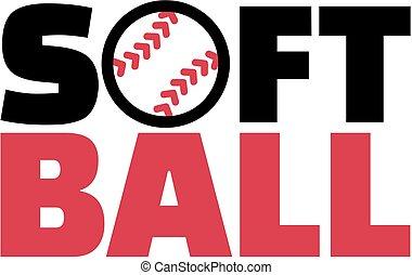 słowo, softball