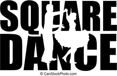 słowo, taniec, cutout, skwer