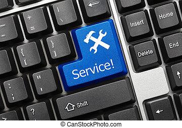 służba, -, key), klawiatura, konceptualny, (blue
