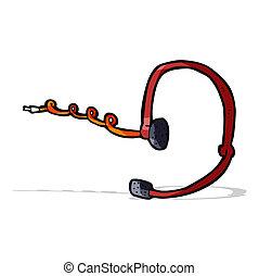 słuchawki, rozmowa telefoniczna, rysunek, środek