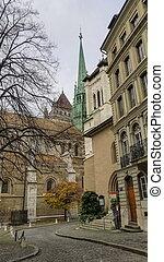 saint-pierre, genewa, szwajcaria, katedra