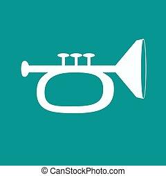 saksofon, ikona