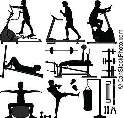 sala gimnastyczna, człowiek, trening, ruch, gimnazjum