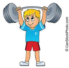 sala gimnastyczna, sport, temat, 7