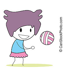 salwa, dziewczyna, piłka