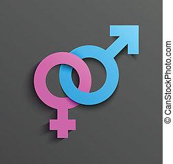 samica, męski symbol