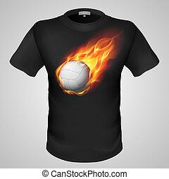 samiec, print., t-shirt