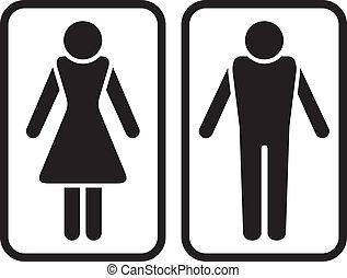 samiec, symbol., samica, &