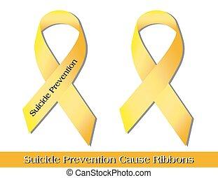 samobójstwo, wstążki, zapobieganie