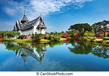 sanphet, pałac, prasat, tajlandia