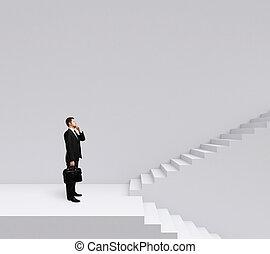 schody, kupiec stanie