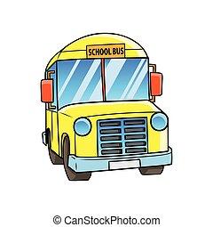 school., autobus