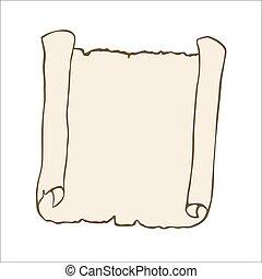 scroll., rys, starożytny