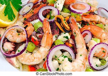 seafood sałata