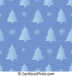 seamless, drzewa, śnieg