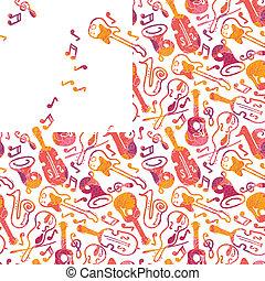 seamless, instrumentować, muzyczny, barwny, próbka
