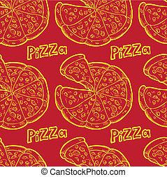 seamless, tło, pizza