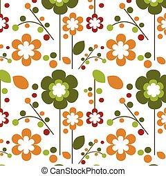 seamless, wiosna, -1, szablon, projektować, kwiaty, kwiat