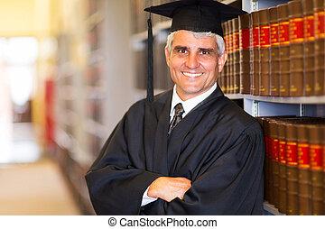 senior, krzyżowany herb, absolwent