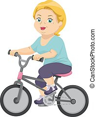 senior, rower, kobieta