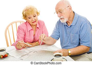 seniorzy, głosowanie, dom