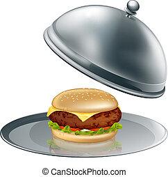 ser burger, platter, srebro