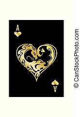 serca, as, złoty, smok