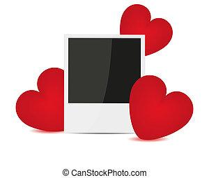 serca, czerwony, fotografia