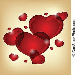 serca, komplet, valentine