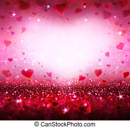 serca, list miłosny, tło