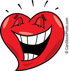 serce, śmiech