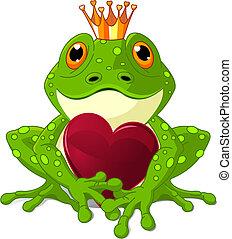 serce, żaba