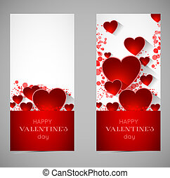serce, abstrakcyjny, chorągwie, valentine