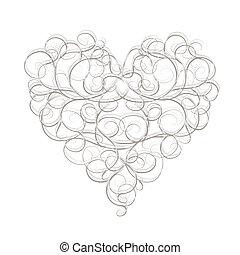 serce, abstrakcyjny, twój, projektować, formułować
