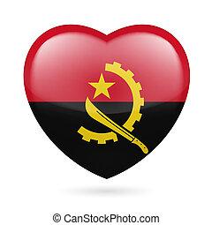 serce, angola, ikona