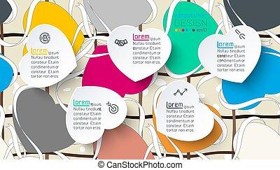 serce, barwny, label., infographics
