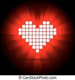 serce, concept., ilustracja, energia, wektor, zdrowie