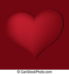serce, czerwony