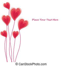 serce, karta, caongratulatory