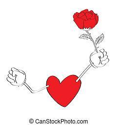 serce, kartony, valentine