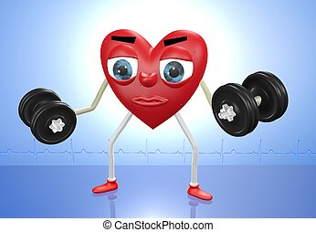 serce, litera, ciężary