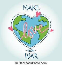 serce, -, miłość, świat