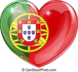serce, miłość, bandera, portugalia