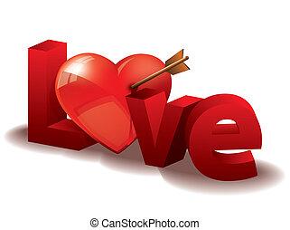 serce, miłość, beletrystyka, 3d