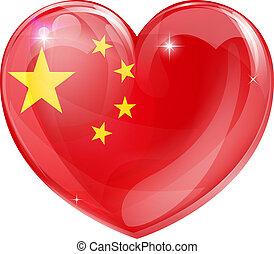 serce, miłość, porcelanowa bandera