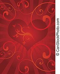 serce, miłość, tło