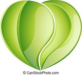 serce, miłosierdzie, liść, miłość, środowiskowy