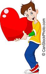 serce, nastolatek, dzierżawa, valentine