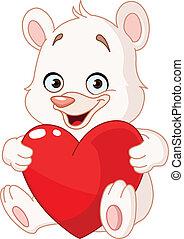 serce, niedźwiedź, dzierżawa, teddy